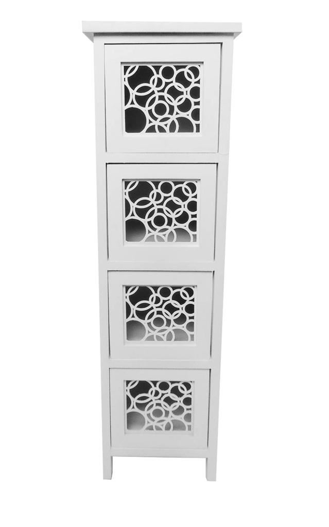 Assembled Slim Narrow Wide Hallway Bedside Table Chest Of
