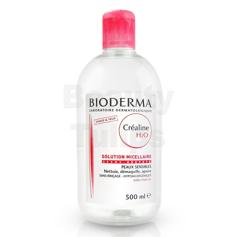 bioderma crealine sensibio h2o micelle solution daily cleanser 500ml ebay. Black Bedroom Furniture Sets. Home Design Ideas