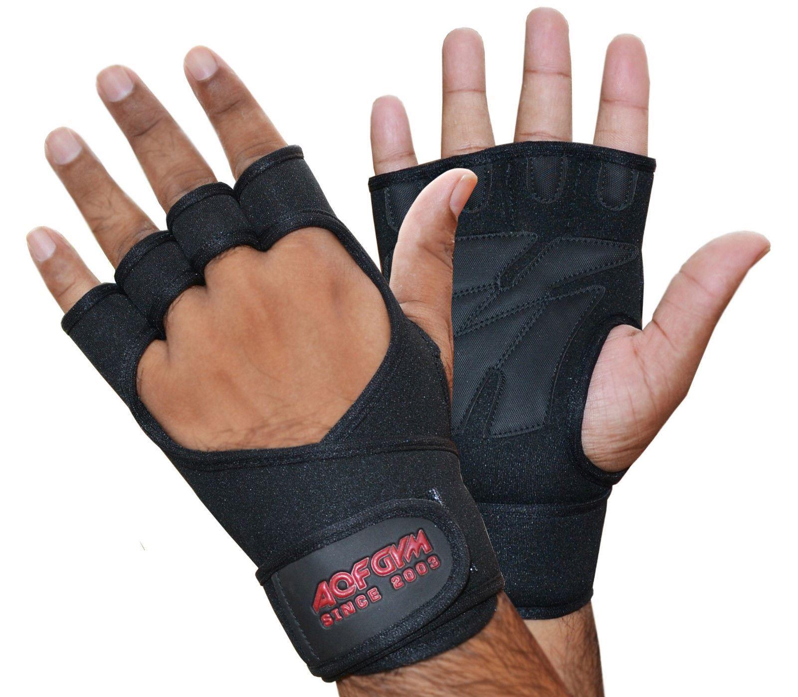 Aqf Weight Lifting Gloves Ultralight Breathable Gym Gloves: AQF Neoprene Weight Lifting Training Gloves Gym