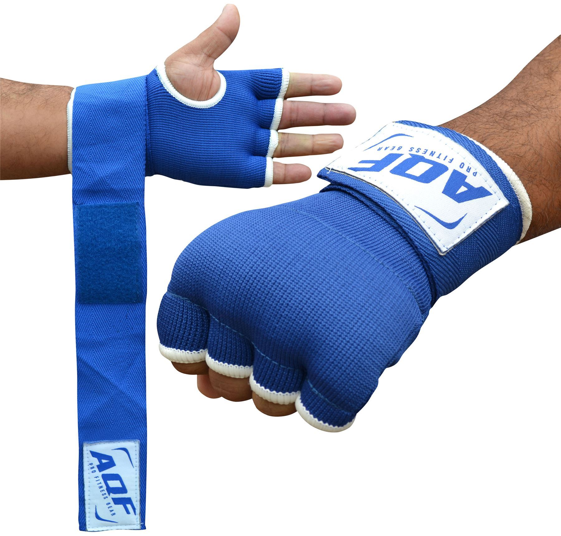 Aqf Weight Lifting Gloves Ultralight Breathable Gym Gloves: AQF Inner Hand Wraps Gloves Boxing Fist Padded Bandages