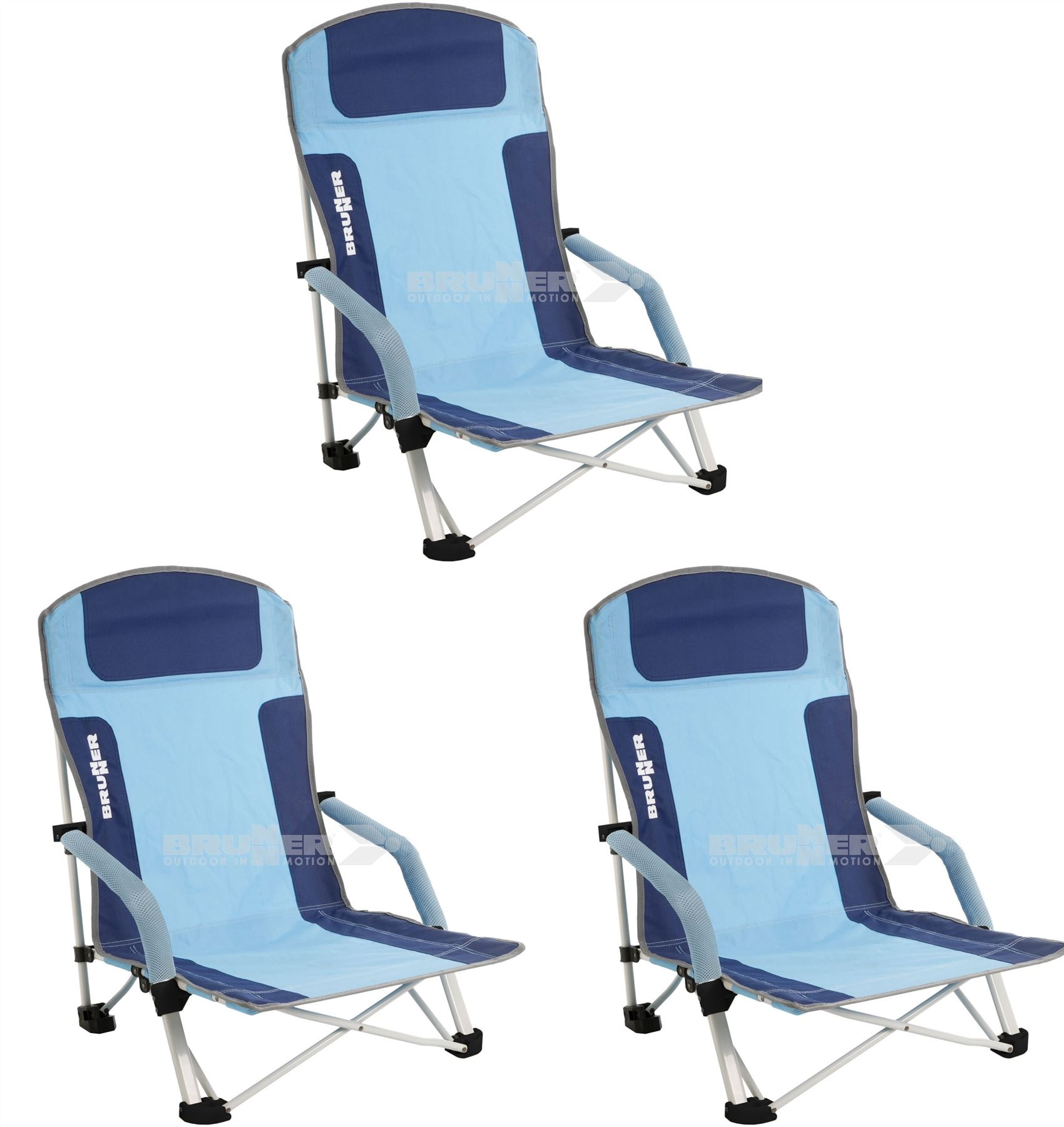 Brunner Bula Low Camping Beach Folding Chair x 3