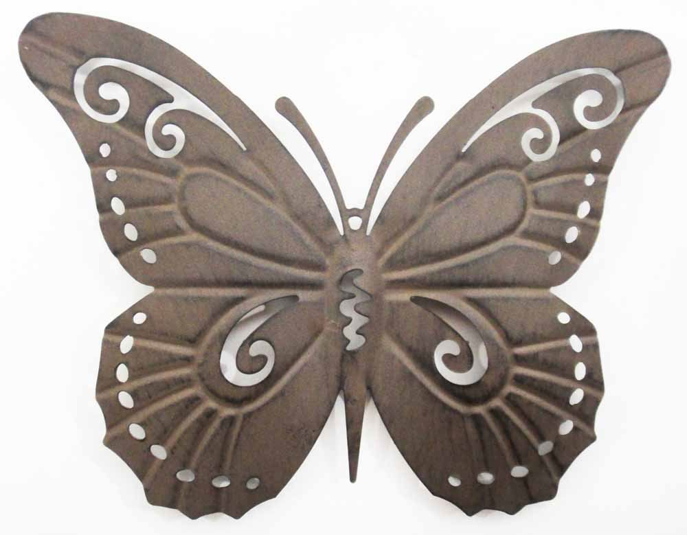 wall art metal wall art picture rustic butterfly silhouette ebay. Black Bedroom Furniture Sets. Home Design Ideas