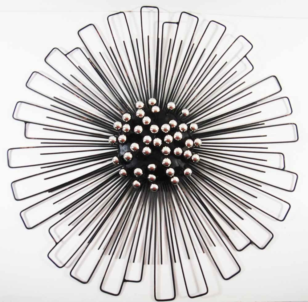 New contemporary metal wall art decor sculpture for Circle wall art