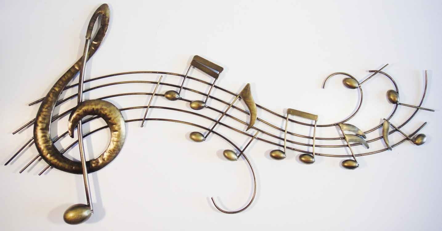 Wall Art Metal Scroll : Wall art metal picture music notes score