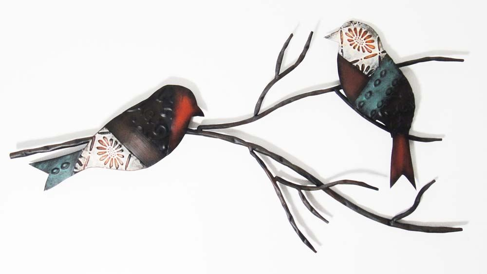 Wall Decor Bird Design : Contemporary metal wall art decor sculpture shabby chic