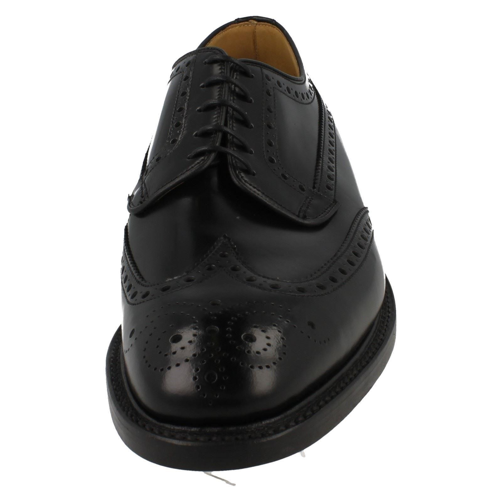 mens loake formal brogue shoes fitting f style braemar