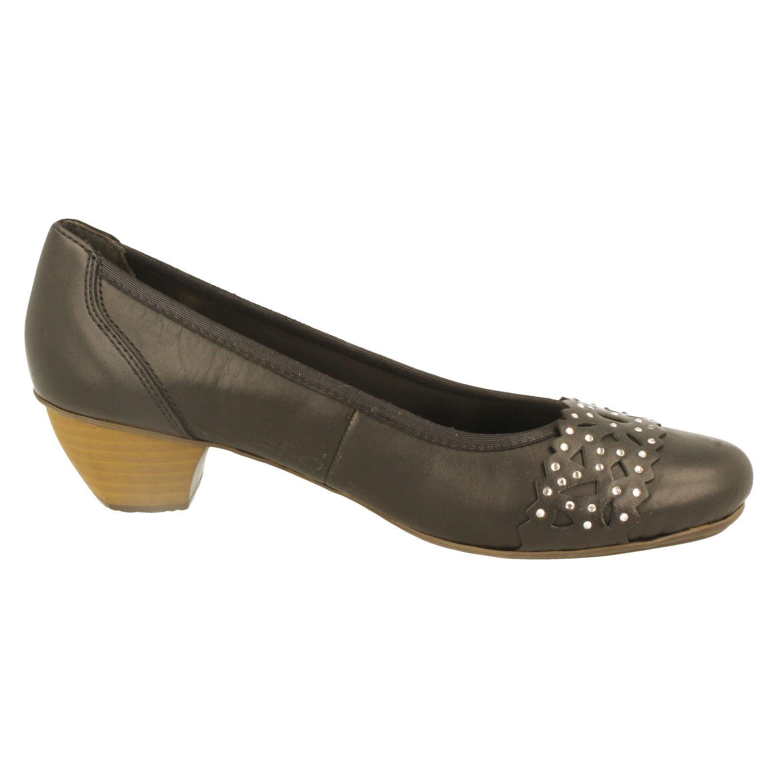 w The Black Style Shoe Court Rieker Ladies 41791 wxqnT1YF7