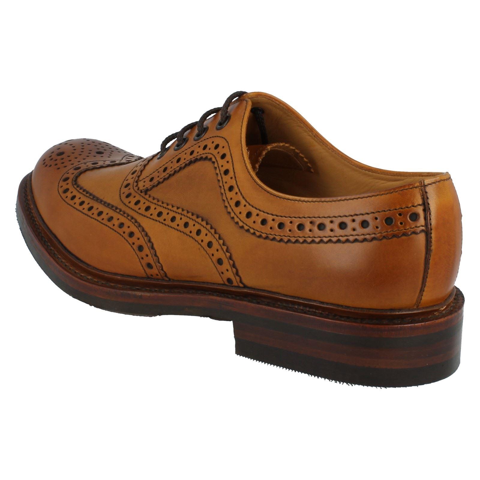 mens loake formal brogue shoes fitting g style edward ebay