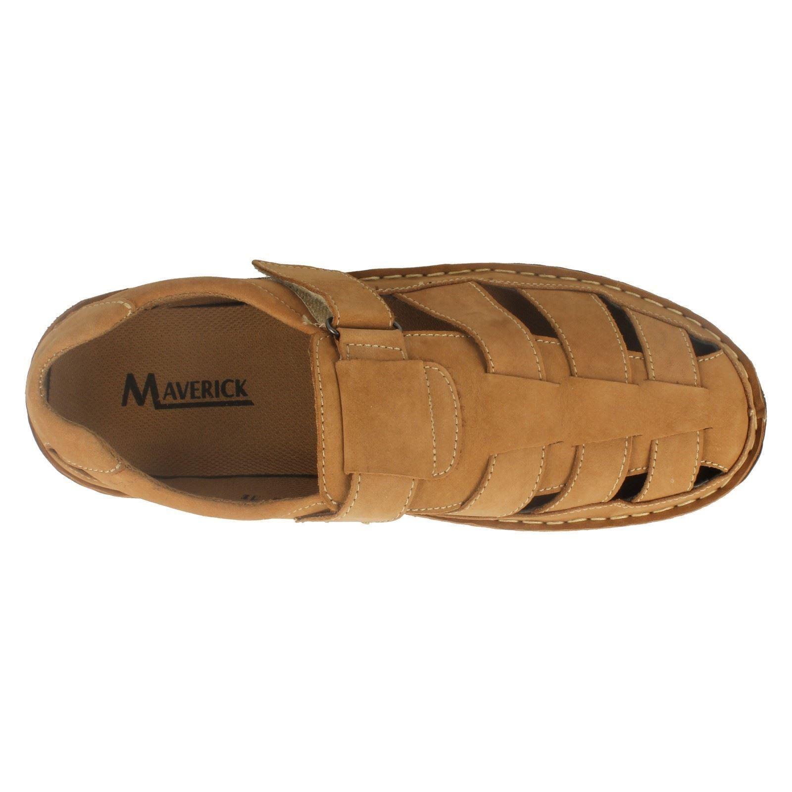 d51f9dd6af0f Mens Maverick Closed Toe Leather Sandals Shoes Label A1103