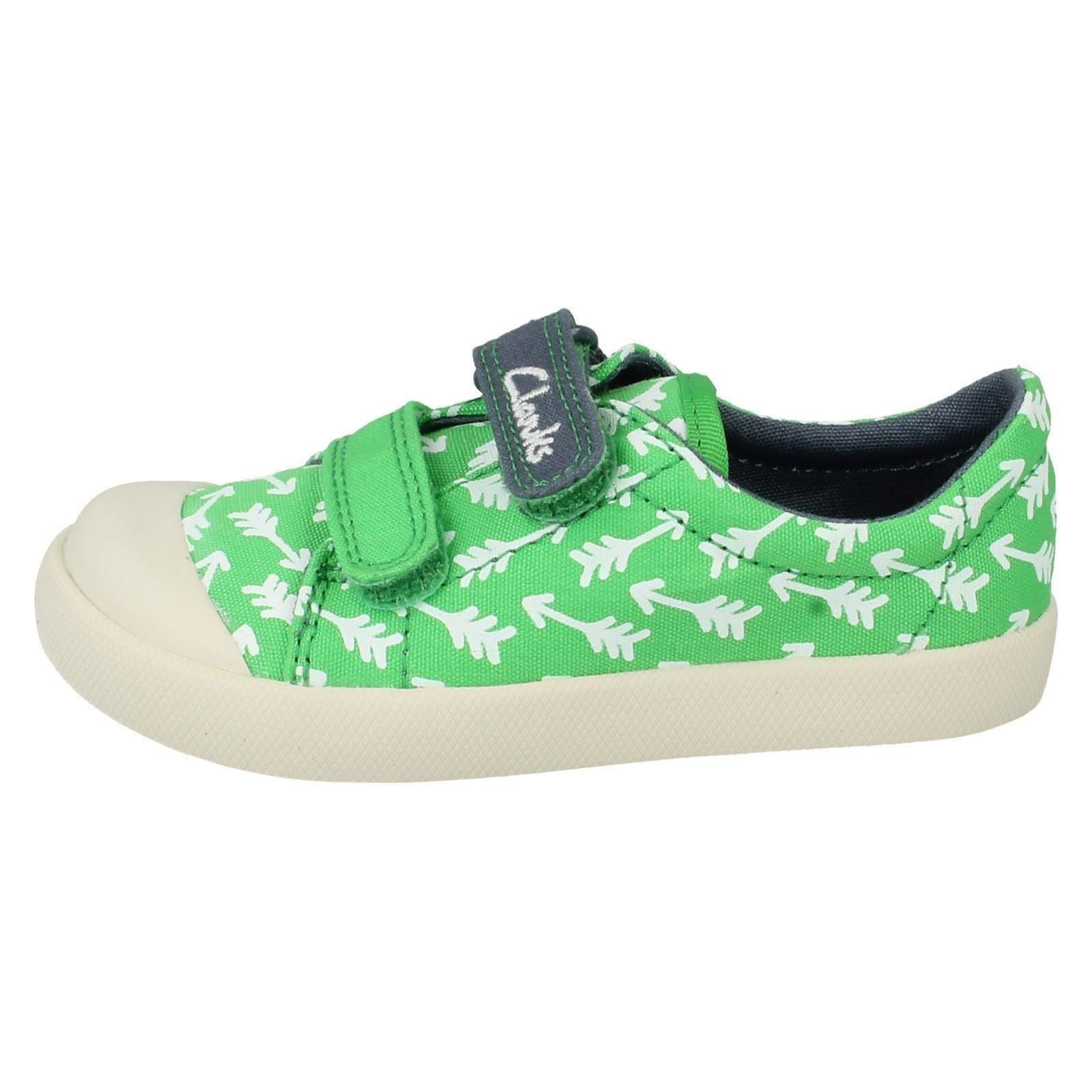 boys clarks canvas casual shoes halcy fst ebay