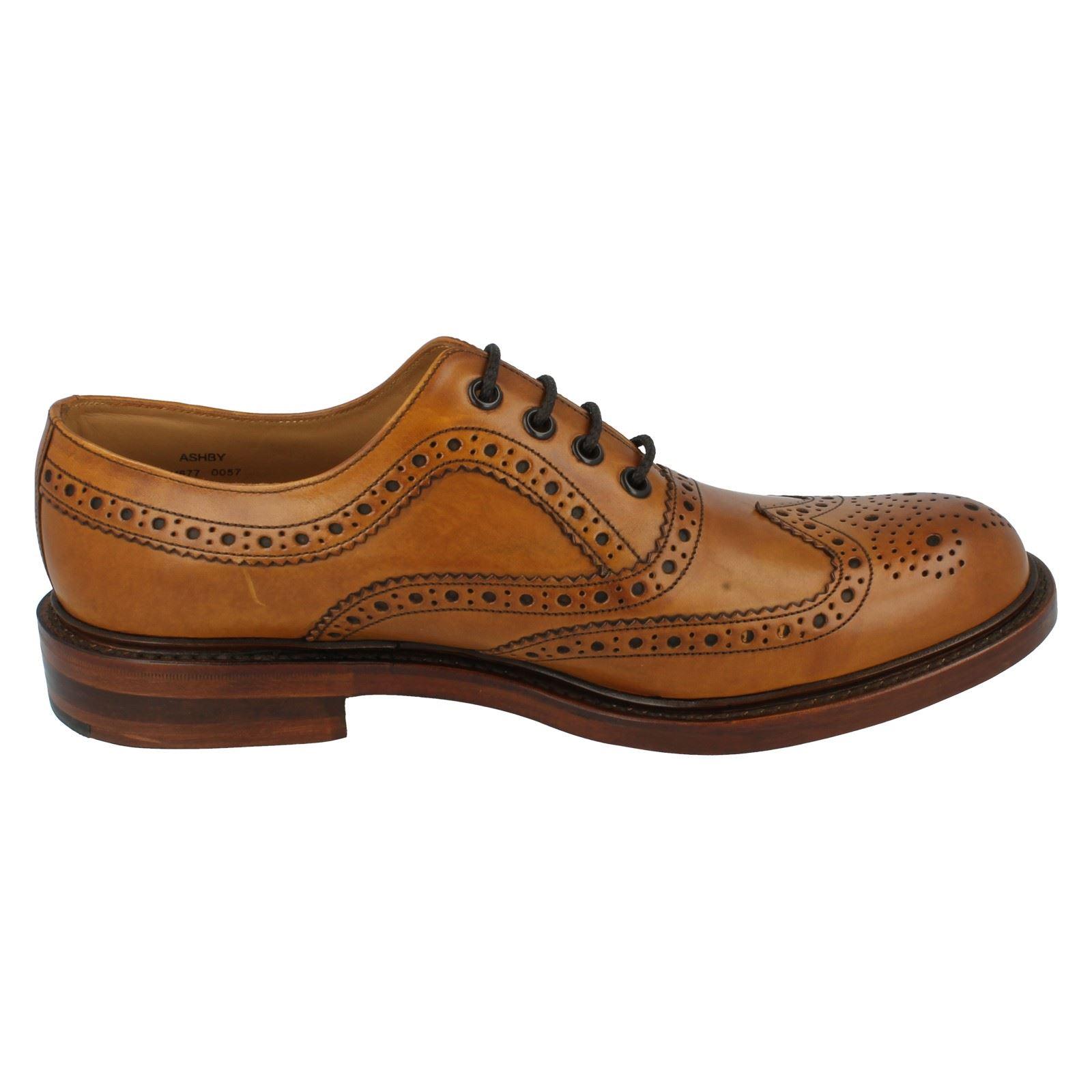 mens loake formal brogue shoes fitting g ashby ebay
