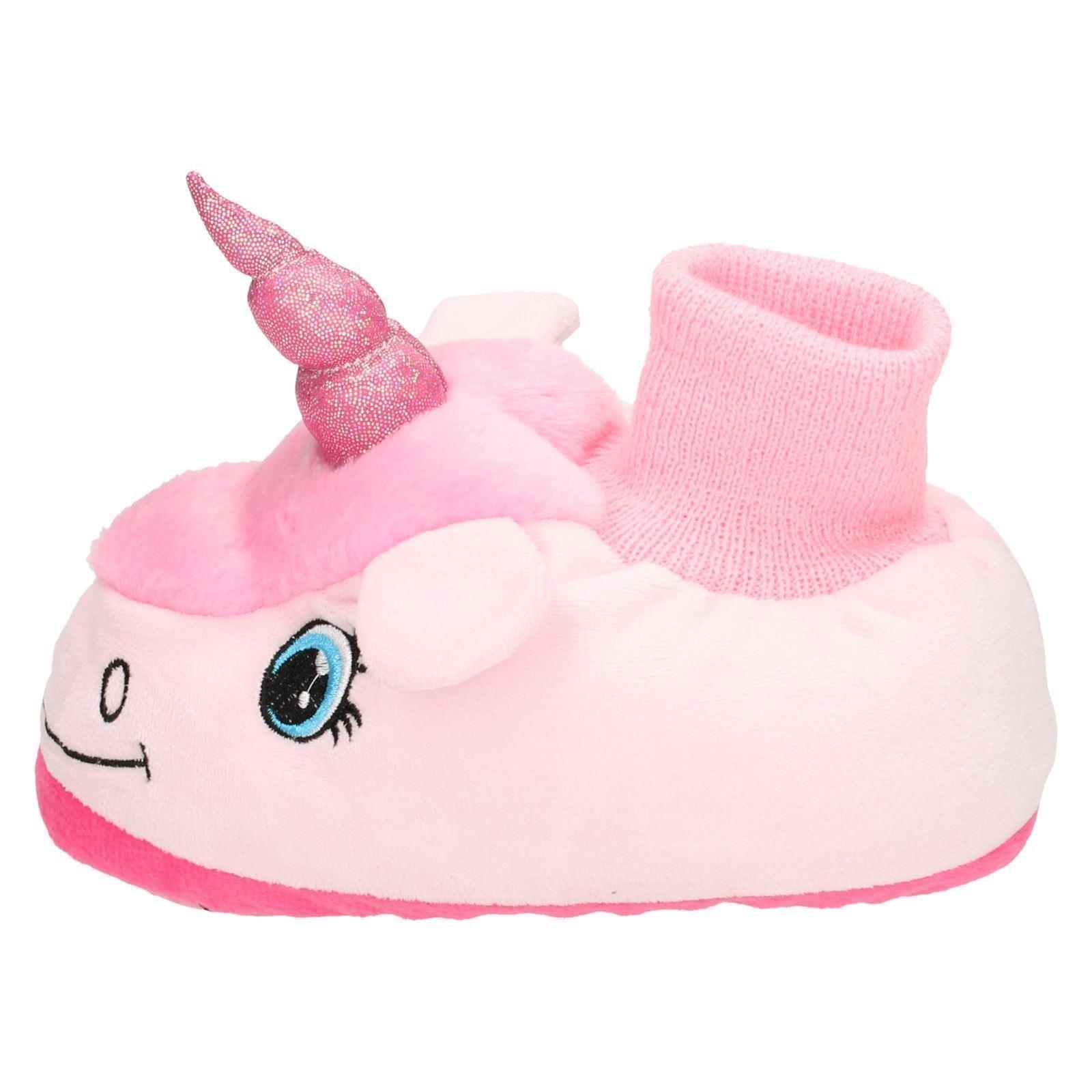 girls spot on unicorn slippers style k ebay. Black Bedroom Furniture Sets. Home Design Ideas