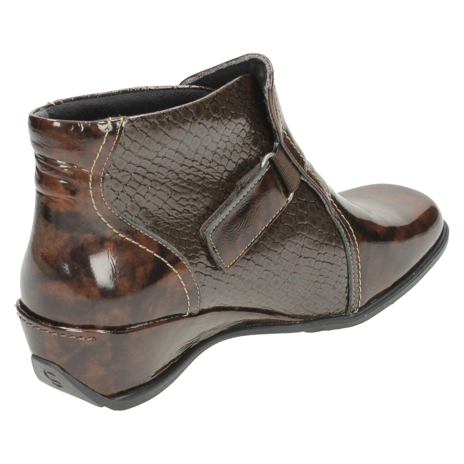 suave croc print wedge boots style k ebay