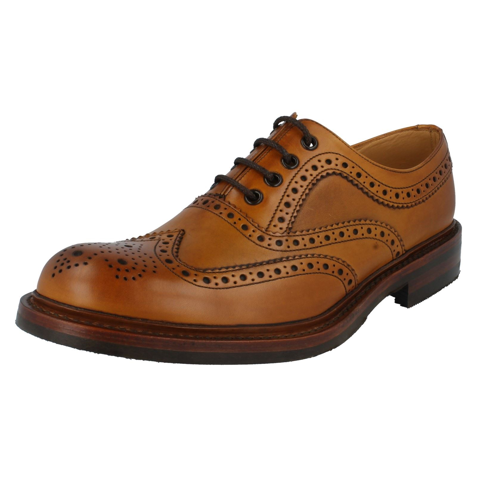 mens loake formal leather brogue shoes fitting g edward ebay