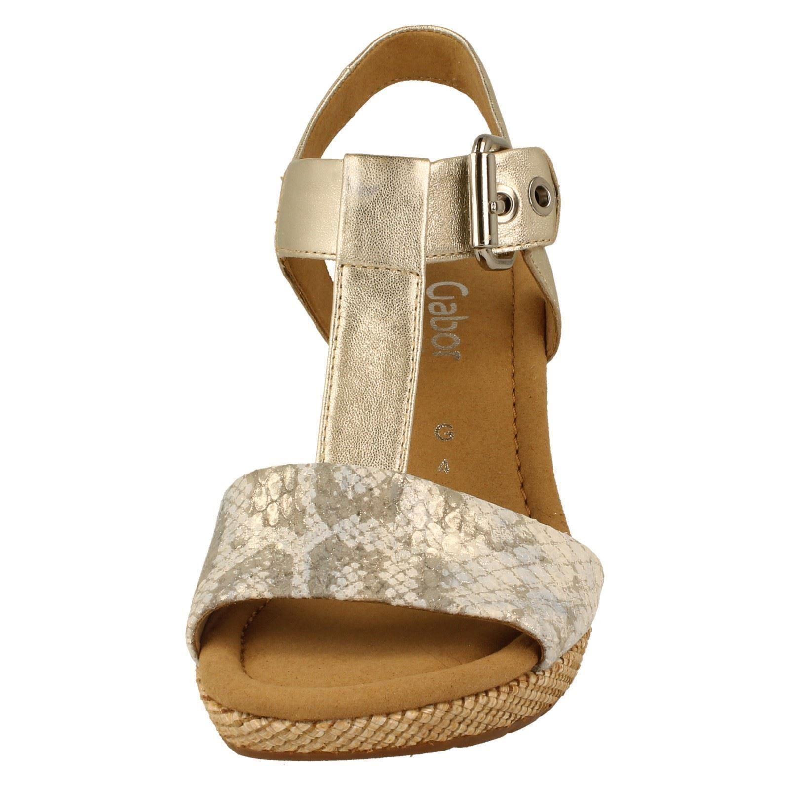 gabor wedge sandals 42824 w ebay
