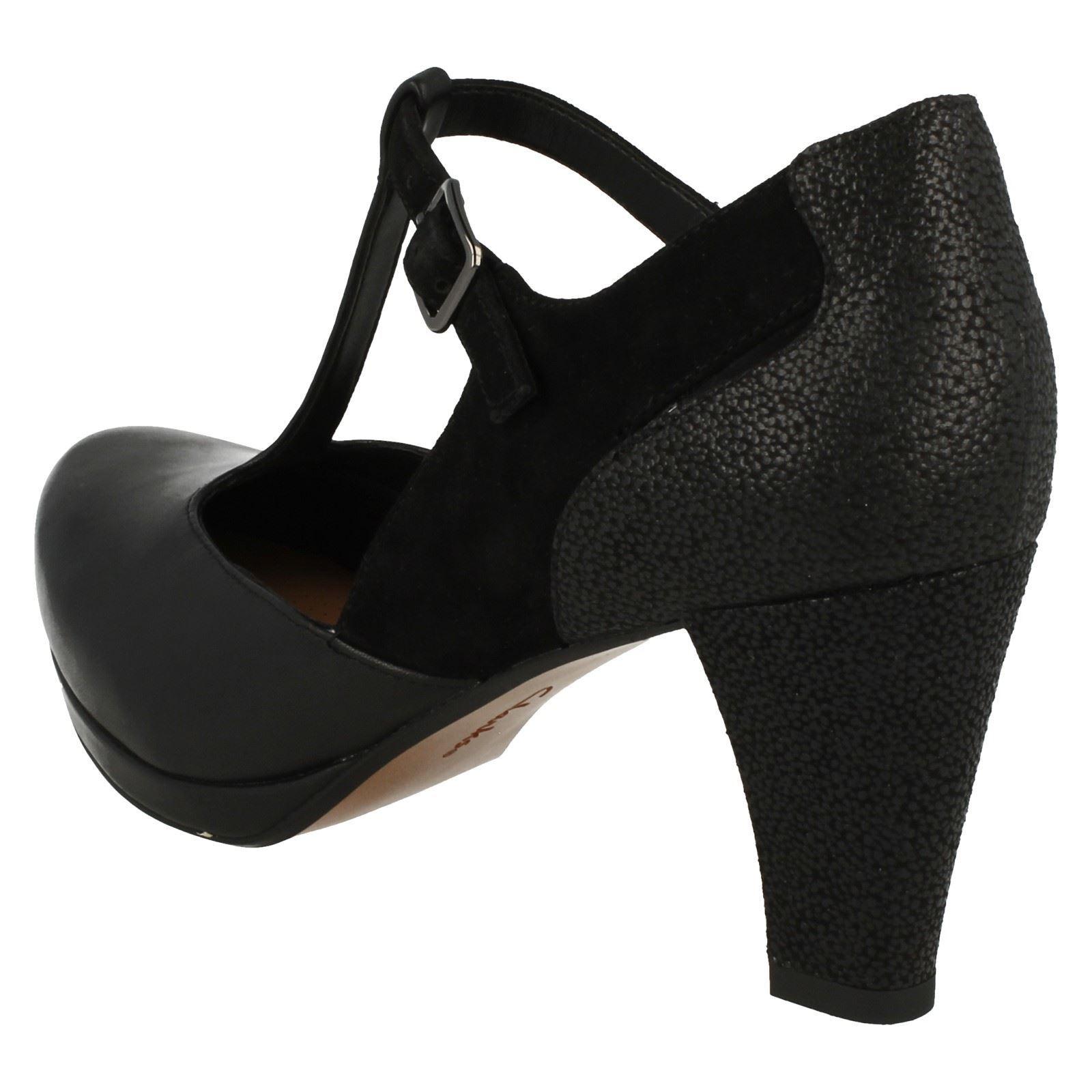 clarks high heel t bar shoes style chorus ebay