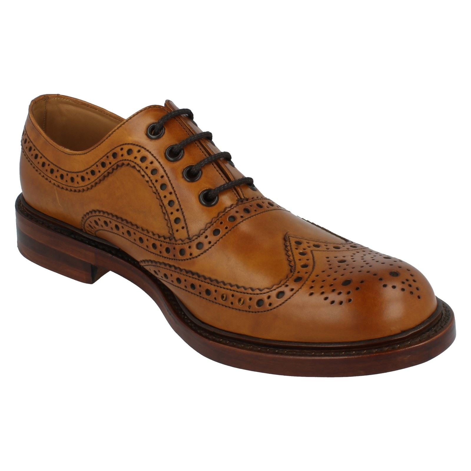 mens loake formal brogue shoes fitting g style ashby ebay