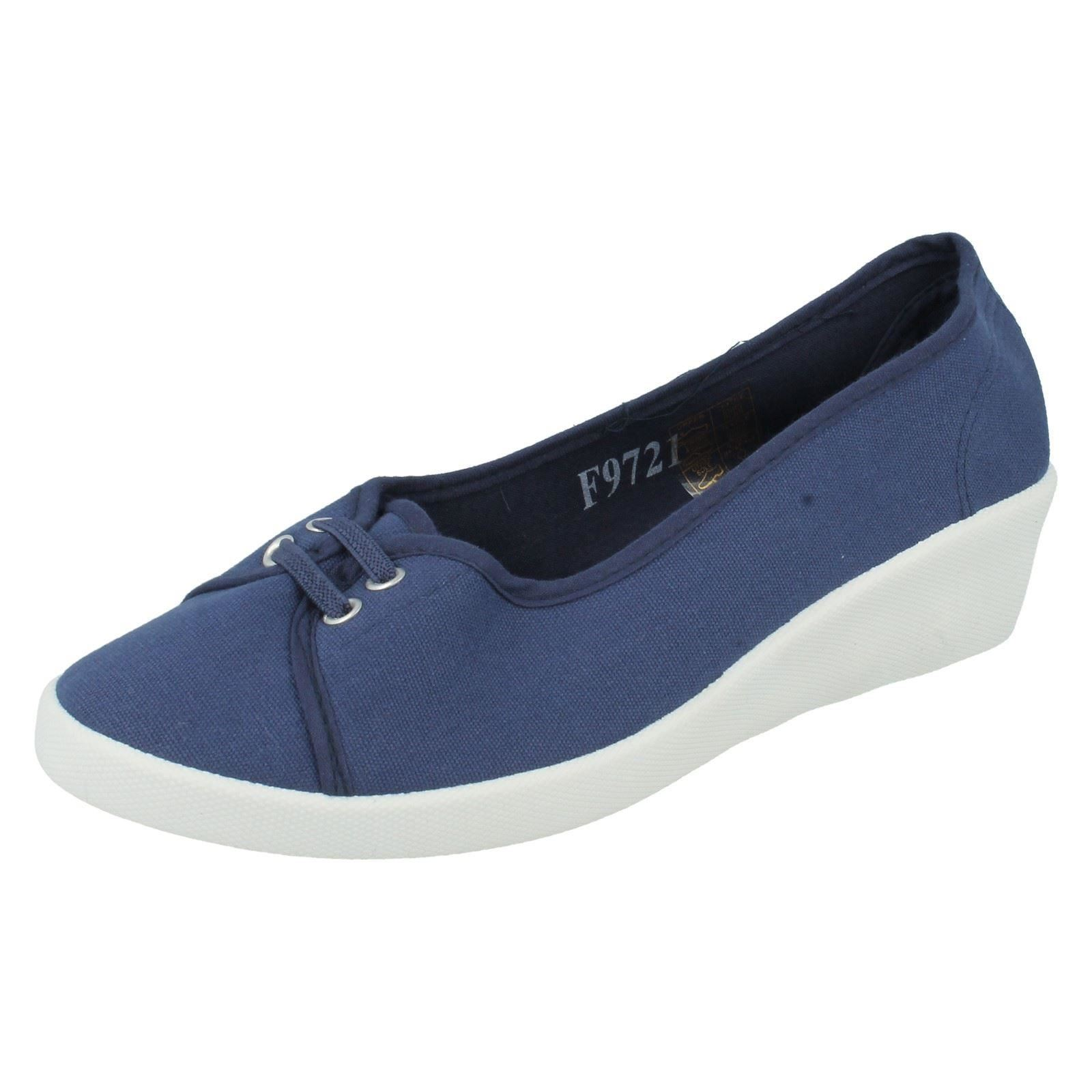 s spoton lace up wedge canvas shoes f9721 ebay