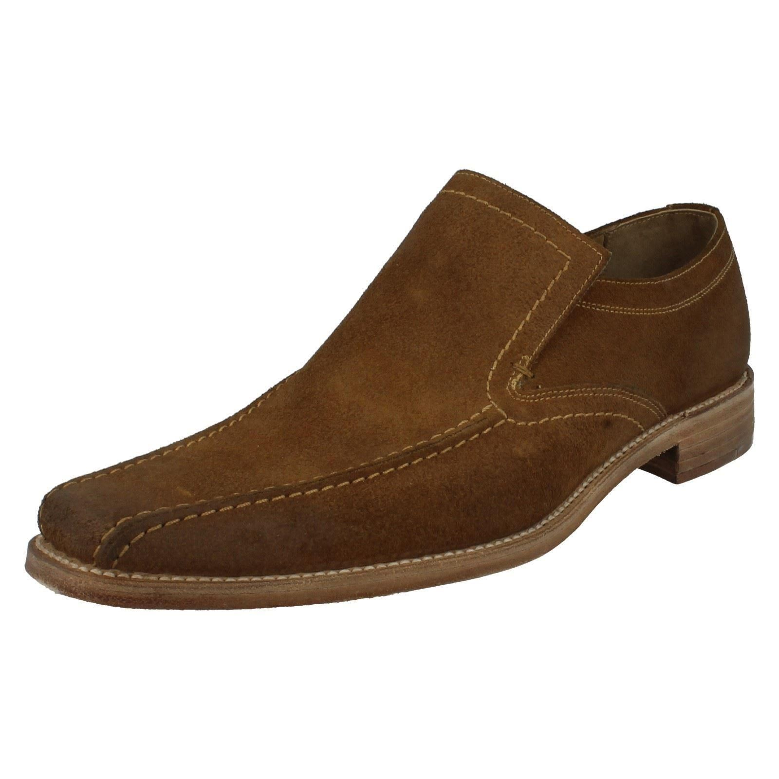 mens loake formal suede shoes label fitting f