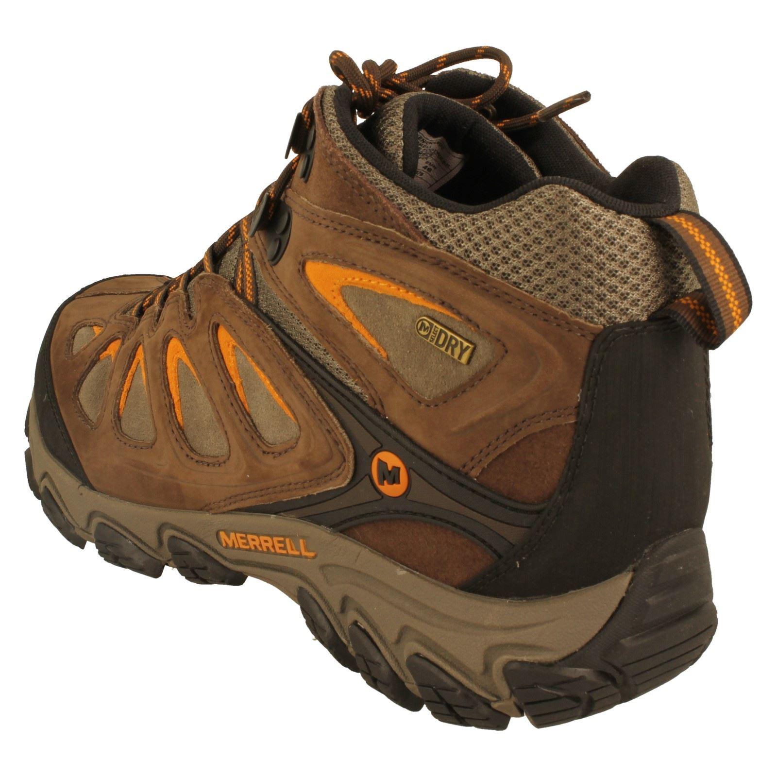 mens merrell walking boots style pulsate mid waterproof