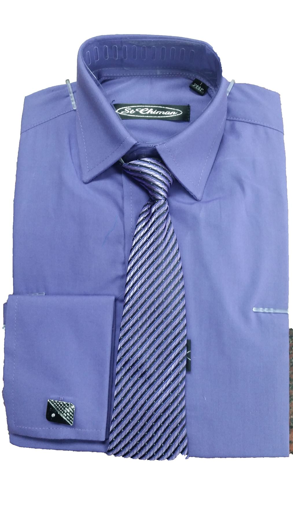 Boys Formal Occasion Smart Shirts With Tie Cufflinks