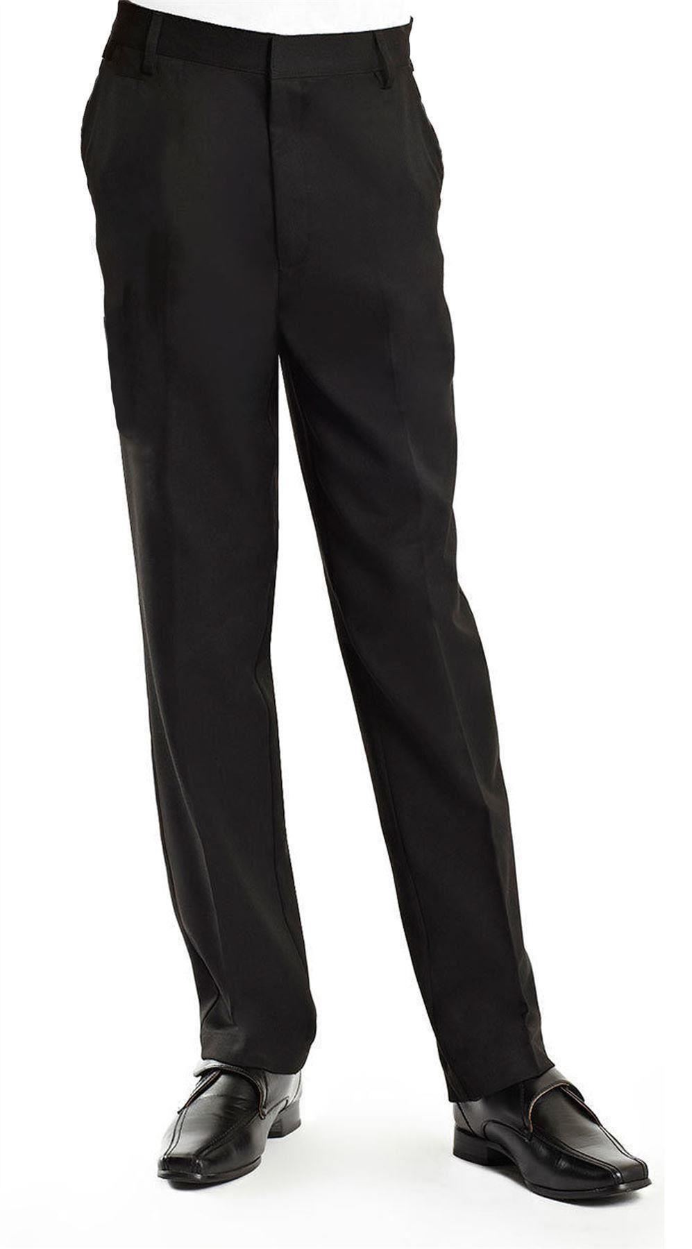 A slim, updated take on the classic evening-wear staple, these sharp tuxedo pants by Calvin Klein feature a modern, flat-front profile that will give any guy stylish appeal. Pair with Calvin Klein's Slim Fit Tuxedo Coat for a complete look.