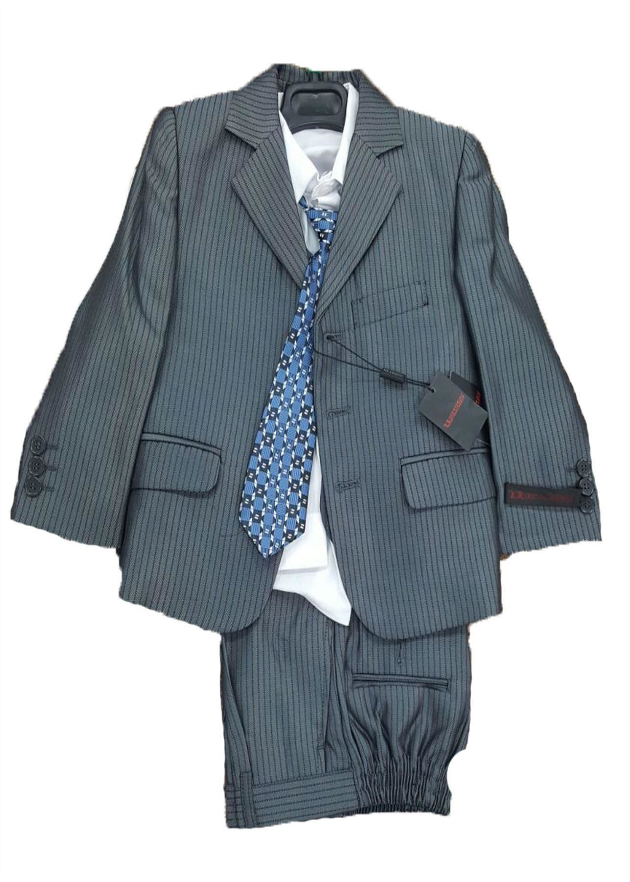 New Boys Formal Wedding Party 3/5 Piece Waistcoat Jacket Suit Ages 1 To 13 Yrs | EBay