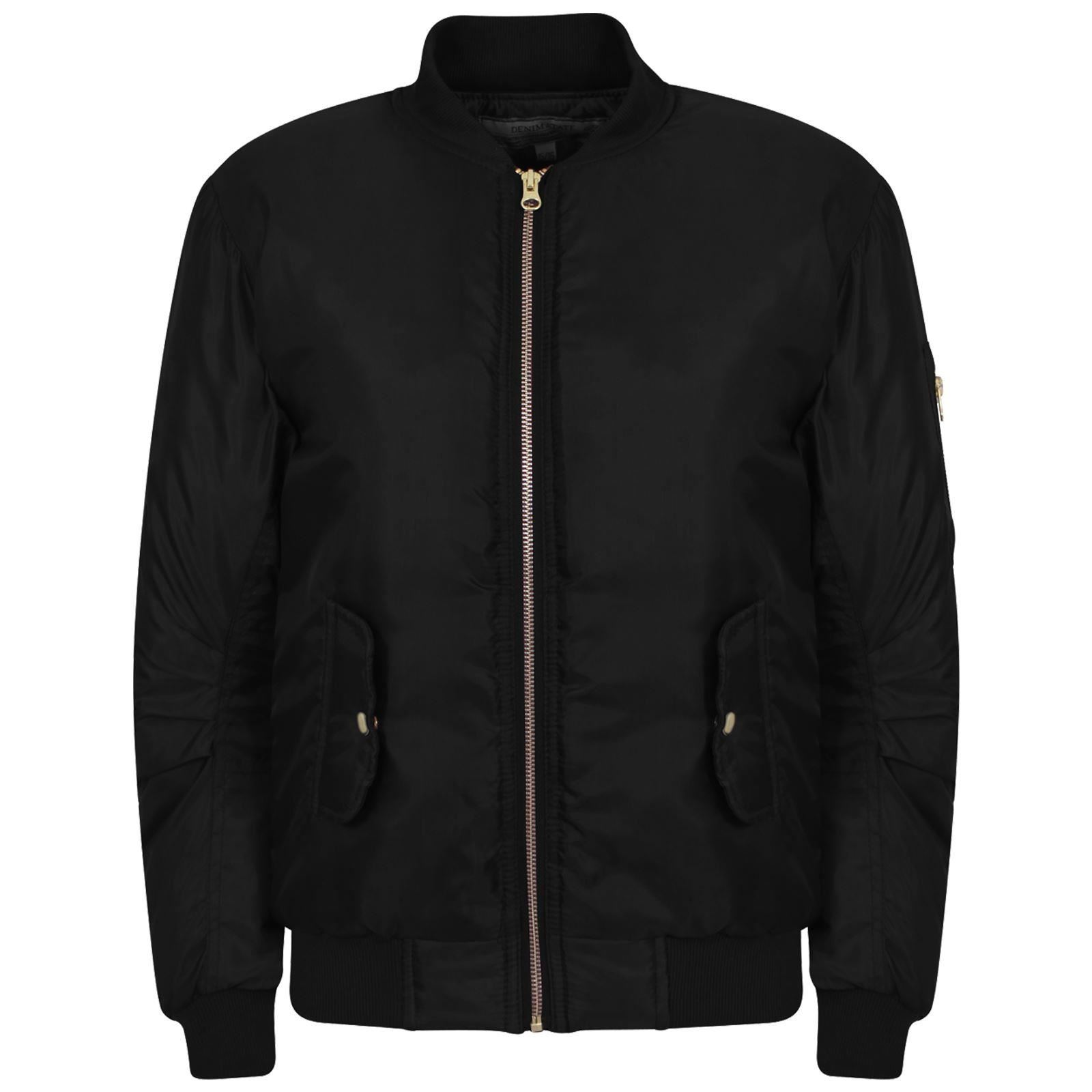 NEW KIDS GIRLS MA1 BOMBER JACKET WITH POCKETS 3-16 YEARS ...
