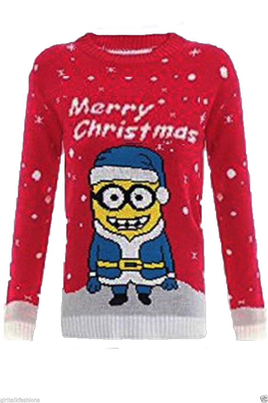 kinder jungen m dchen dave minion weihnachts pullover 5 12 jahre ebay. Black Bedroom Furniture Sets. Home Design Ideas