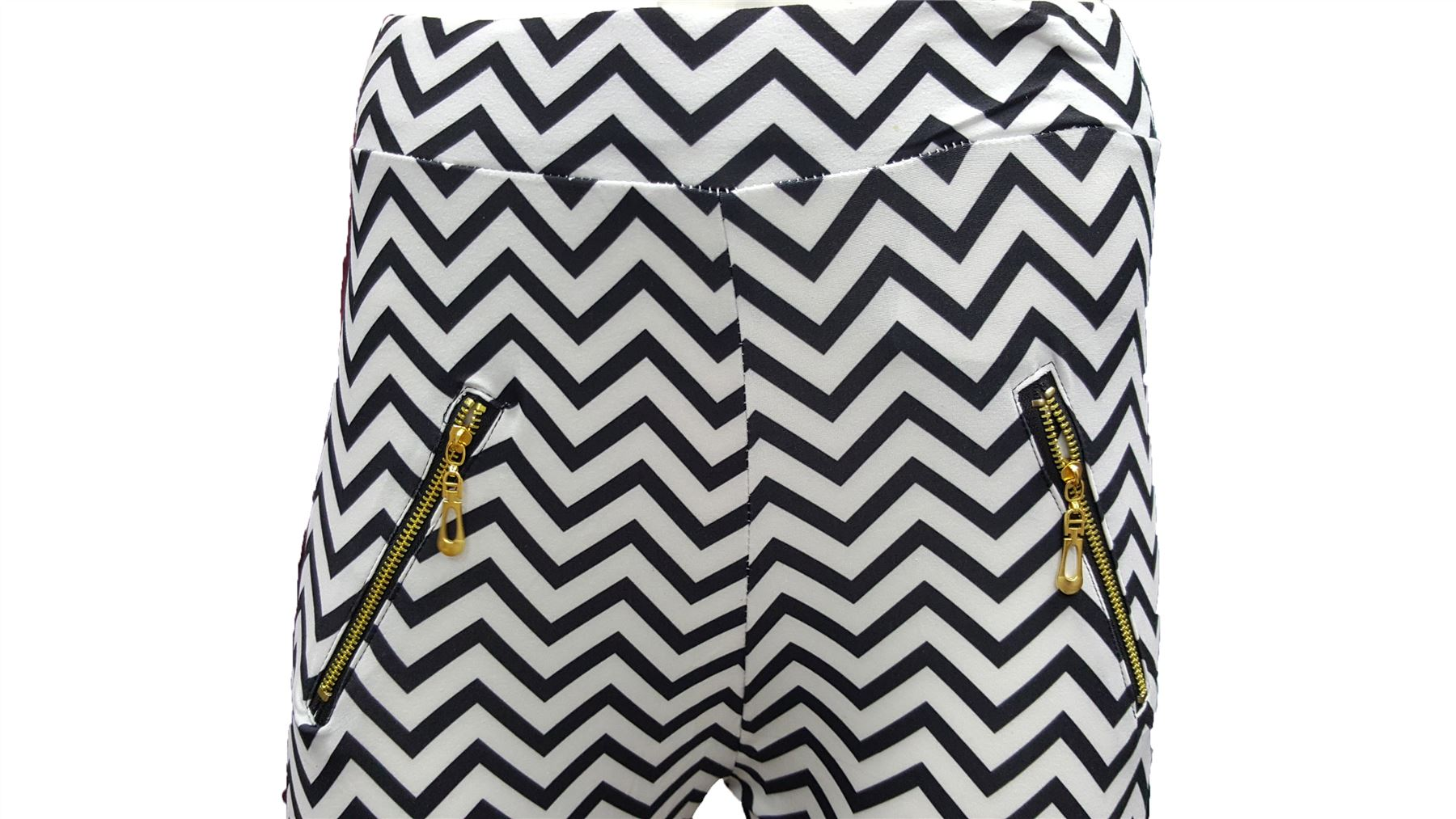 L// XL BRAND NEW LADIES ZIG ZAG PRINT LEGGINGS UK SIZE S//M