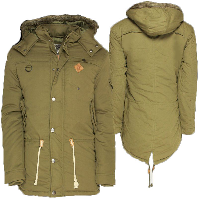 Mens parka coats fishtail – Modern fashion jacket photo blog