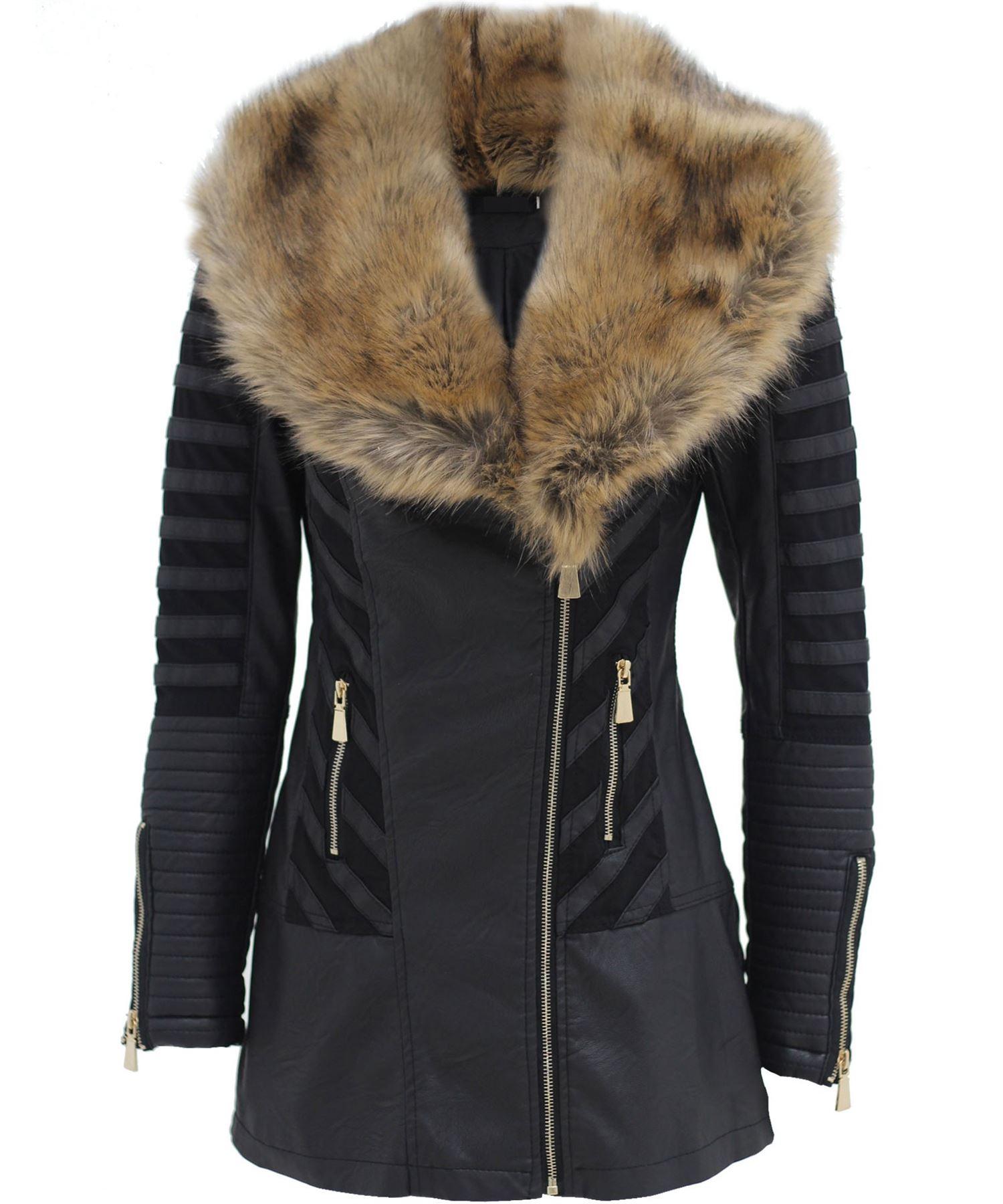More Details Mackage Ingrid Leather Jacket w/ Fur Collar Details Mackage