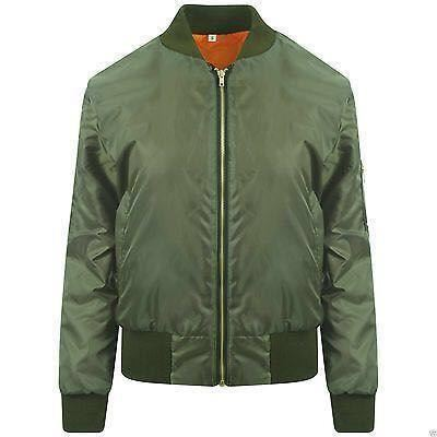 NEUF-Veste-Aviateur-Homme-MA1-avec-gold-zip-amp-poches-laterales-taille-S-M-L-XL