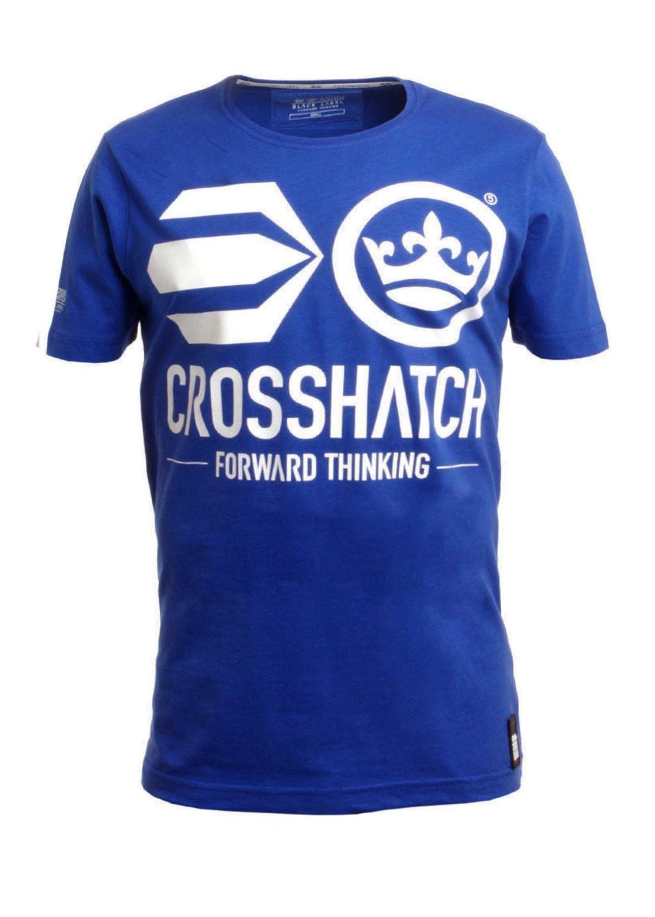 bnwt mens crosshatch graphic 039 antler 039 slub cotton t shirt black