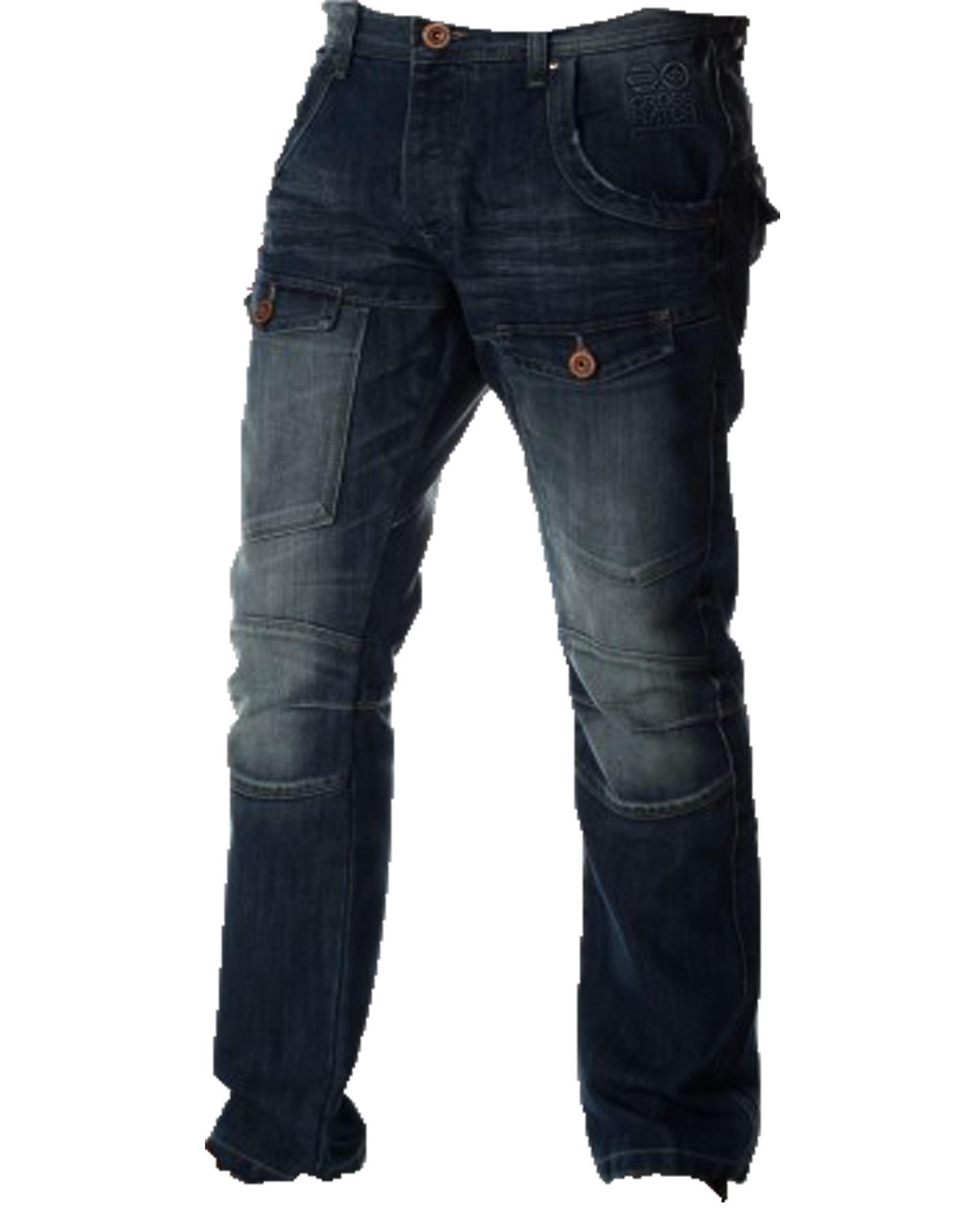 New Mens Crosshatch Designer New Control Denim Regular Fit Straight Leg Jeans