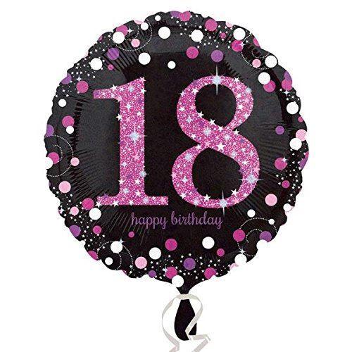Pink Happy 18th Birthday Balloon: Pink Celebration 18th Happy Birthday Foil Balloon Party