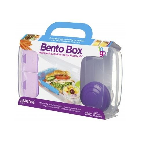 sistema to go bento box hinged compartments movable divider sandwich lunch box ebay. Black Bedroom Furniture Sets. Home Design Ideas