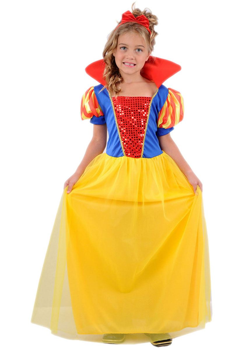 GIRLS-FANCY-COSTUME-PARTY-DRESS-DISNEY-PRINCESS-CHILDREN-  sc 1 st  eBay & GIRLS FANCY COSTUME PARTY DRESS DISNEY PRINCESS CHILDREN SCHOOL KIDS ...