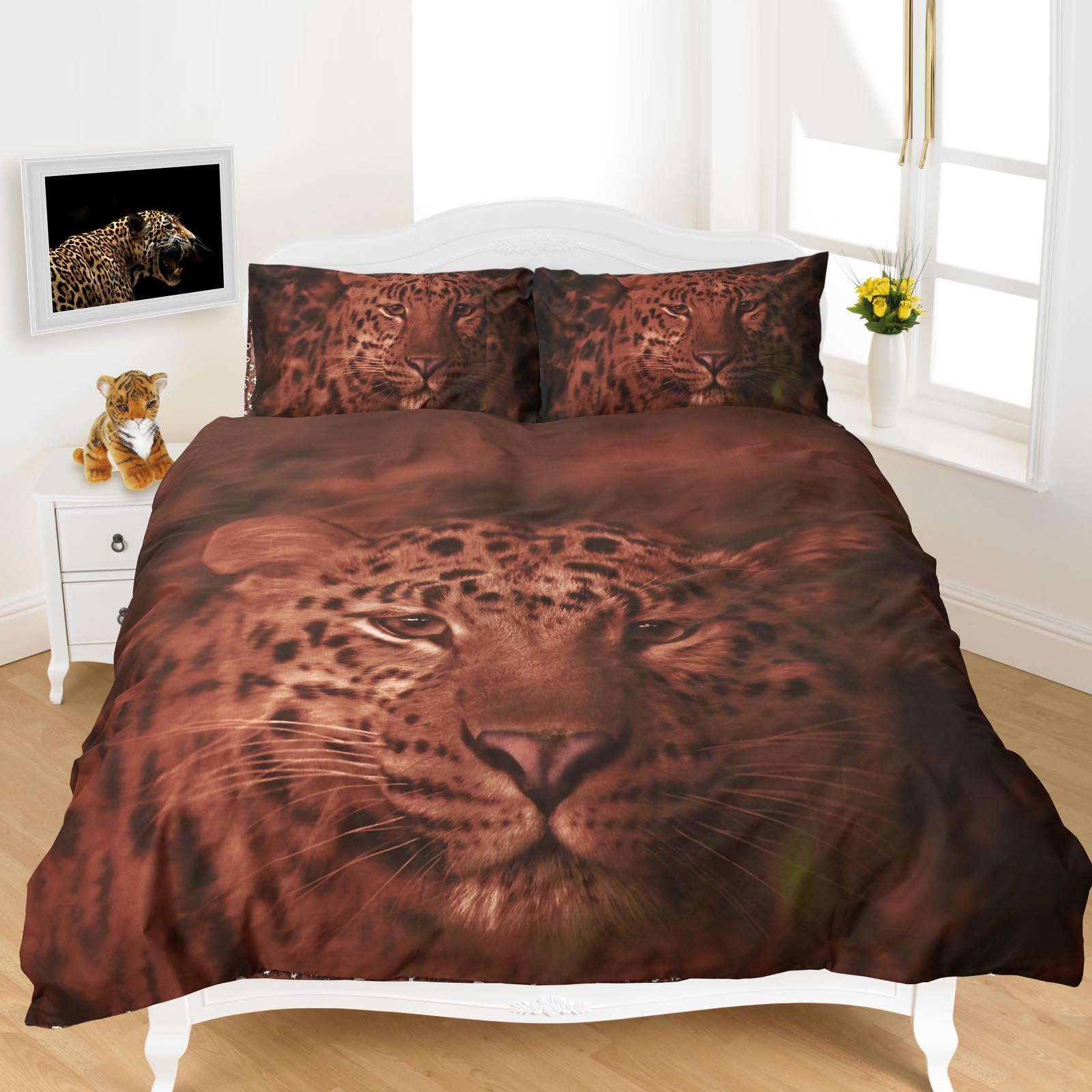 3d animal imprim couette housse de couette poly coton. Black Bedroom Furniture Sets. Home Design Ideas
