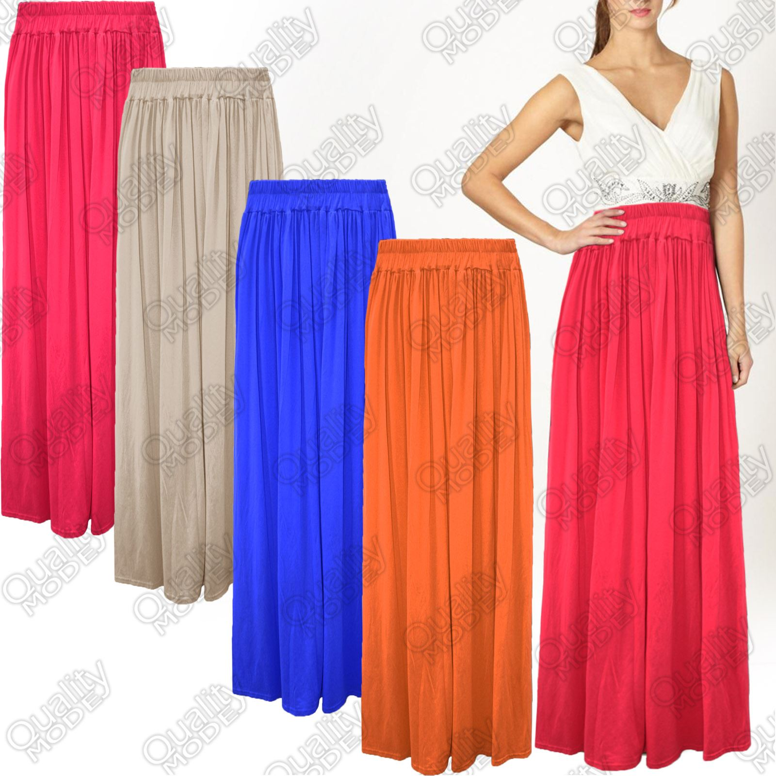womens pleated jersey skirt length