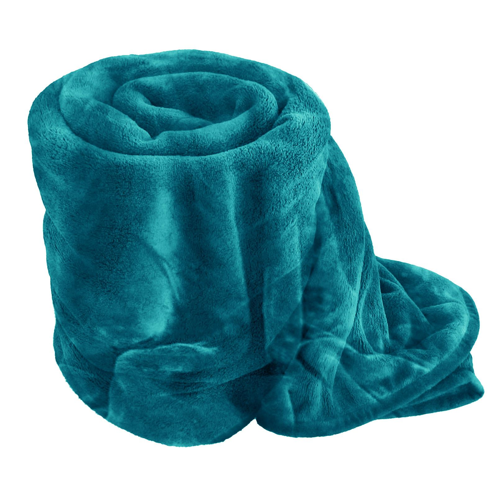 Luxury faux fur blanket bed throw sofa soft warm fleece for Soft blankets and throws