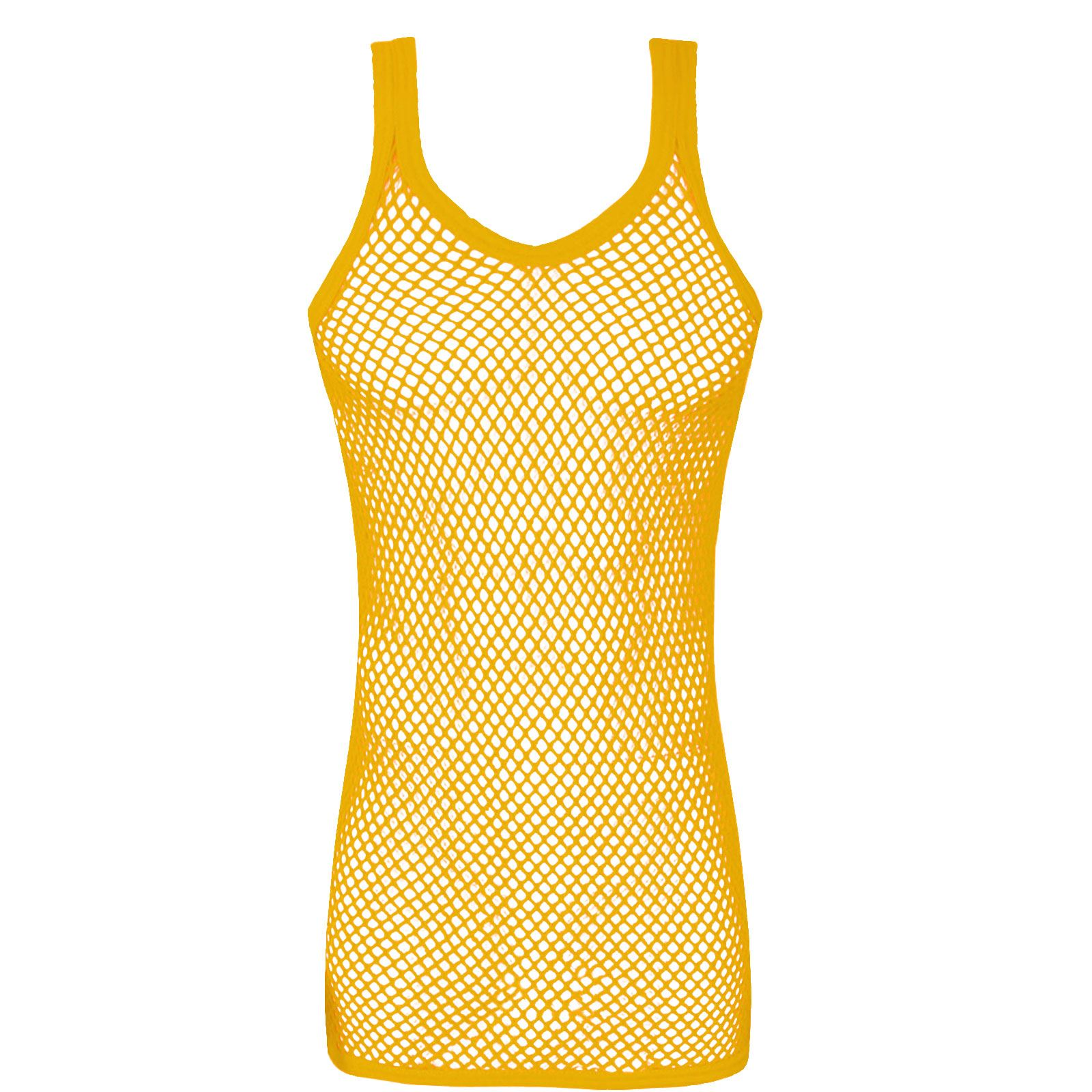 New mens fishnet vest string mesh tops muscle gym fitness for Fishing tank top