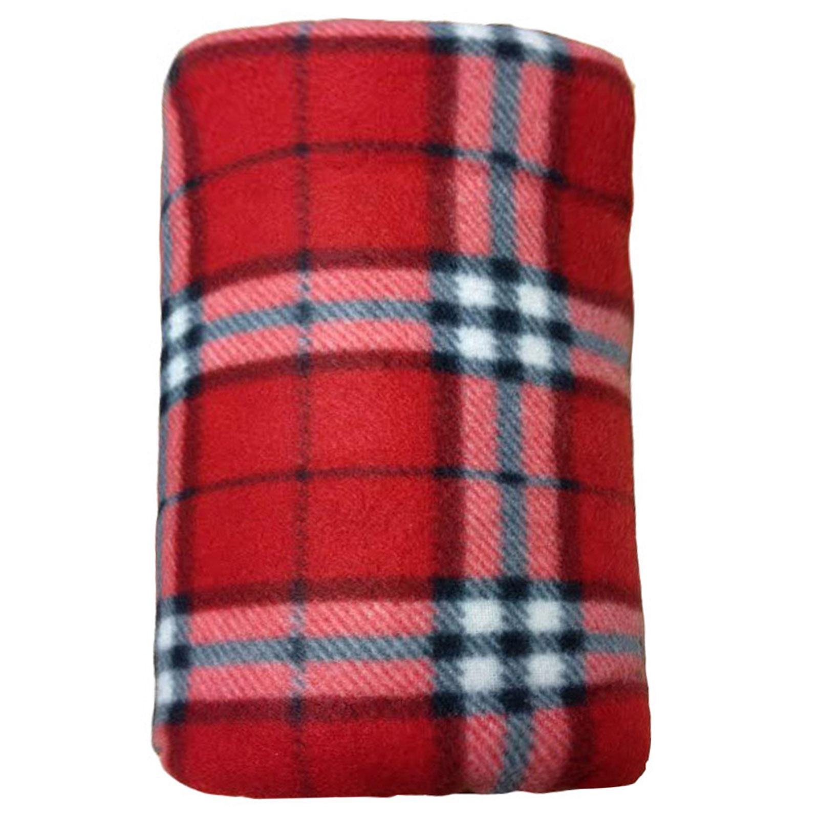 Soft Fleece Blankets Large Extra Warm Tartan Sofa Bed