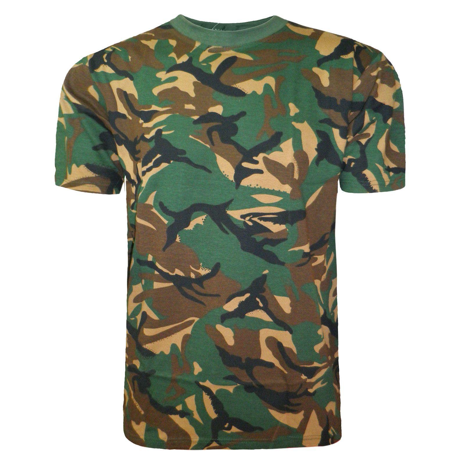 Kids camouflage t shirt military hunting fishing camo army for Camo fishing shirts
