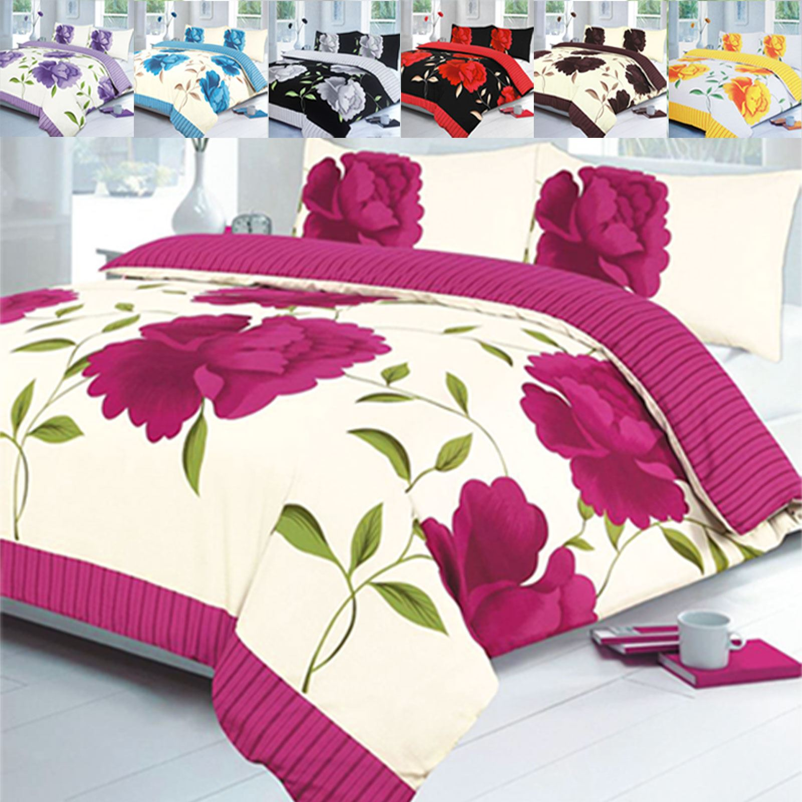 Designer Printed Beddings Bedroom Floral Duvet Quilt Cover