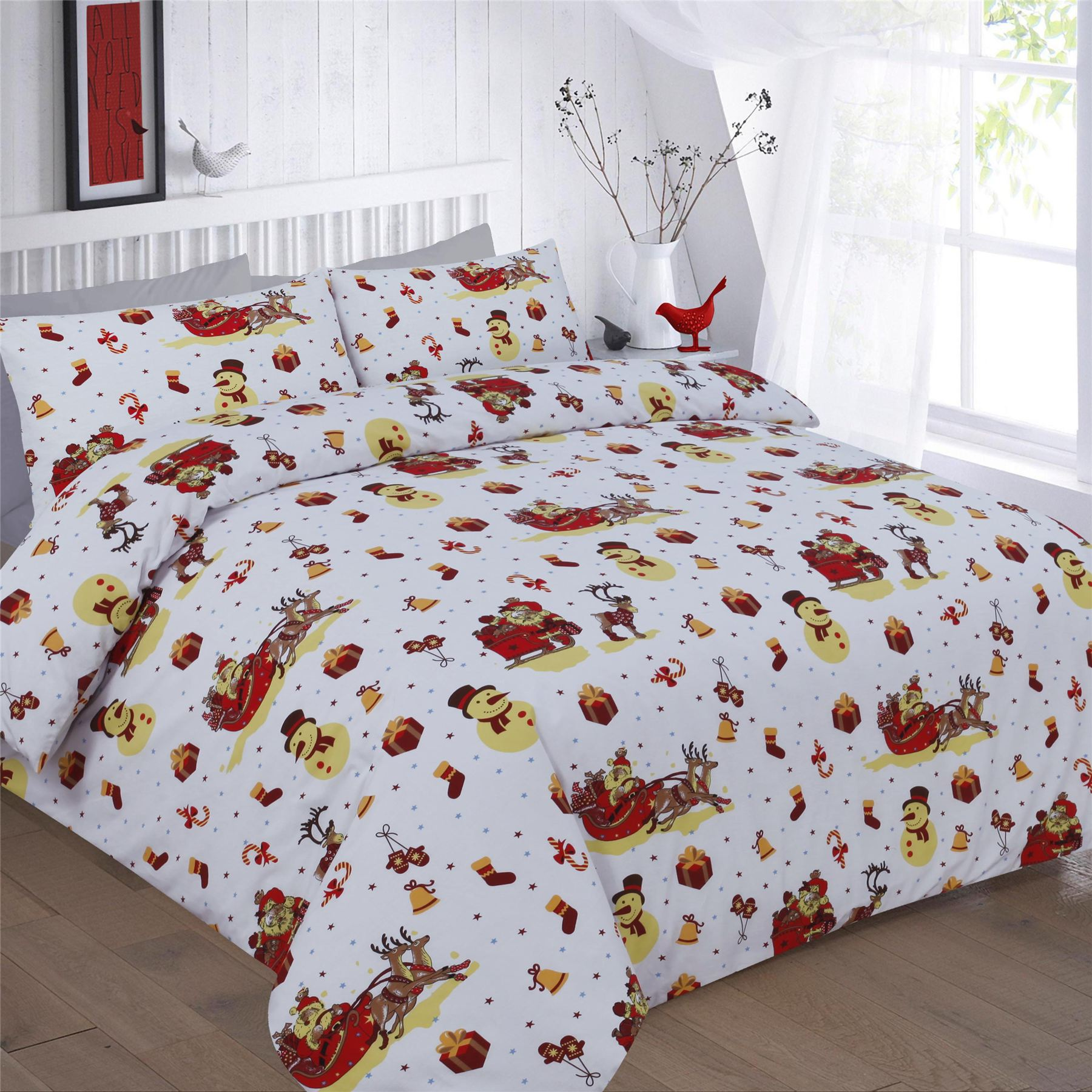 Christmas Duvet Cover Set with Pillow Shams Watercolor Fir Trees Print See more like this. Christmas Cats Duvet Cover Pillow Sham Twin Size Set New The Paragon See more like this. Zoomie Kids Flitwick Sascalia Christmas Tree Microfiber Duvet Covers. Direct from Wayfair. Brand New.