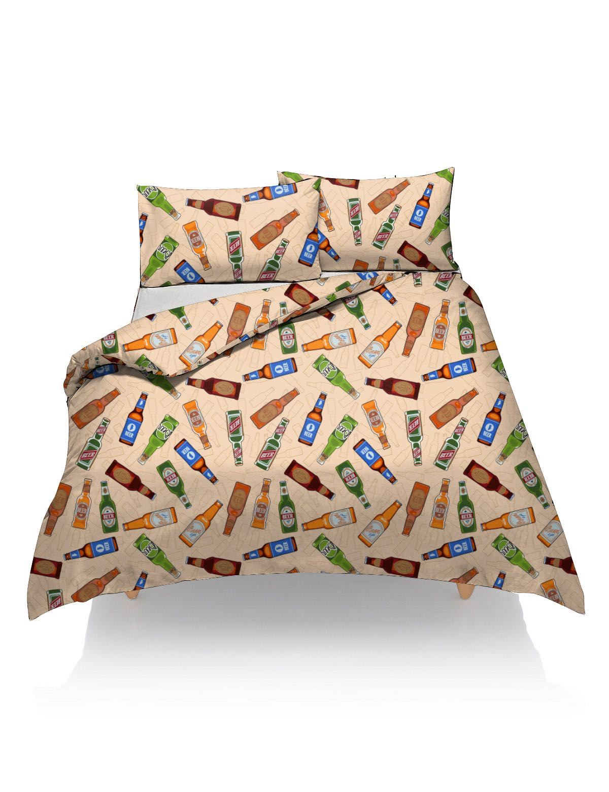 Fancy Duvet Cover With Pillow Case Printed Quilt Bedding