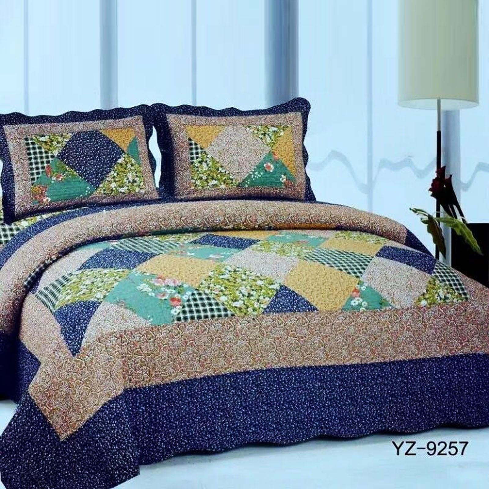 NEW LUXURY BEDSPREAD PILLOW COVER THROW JACQUARD QUILTED PATCHWORK SET HONEYCOMB eBay