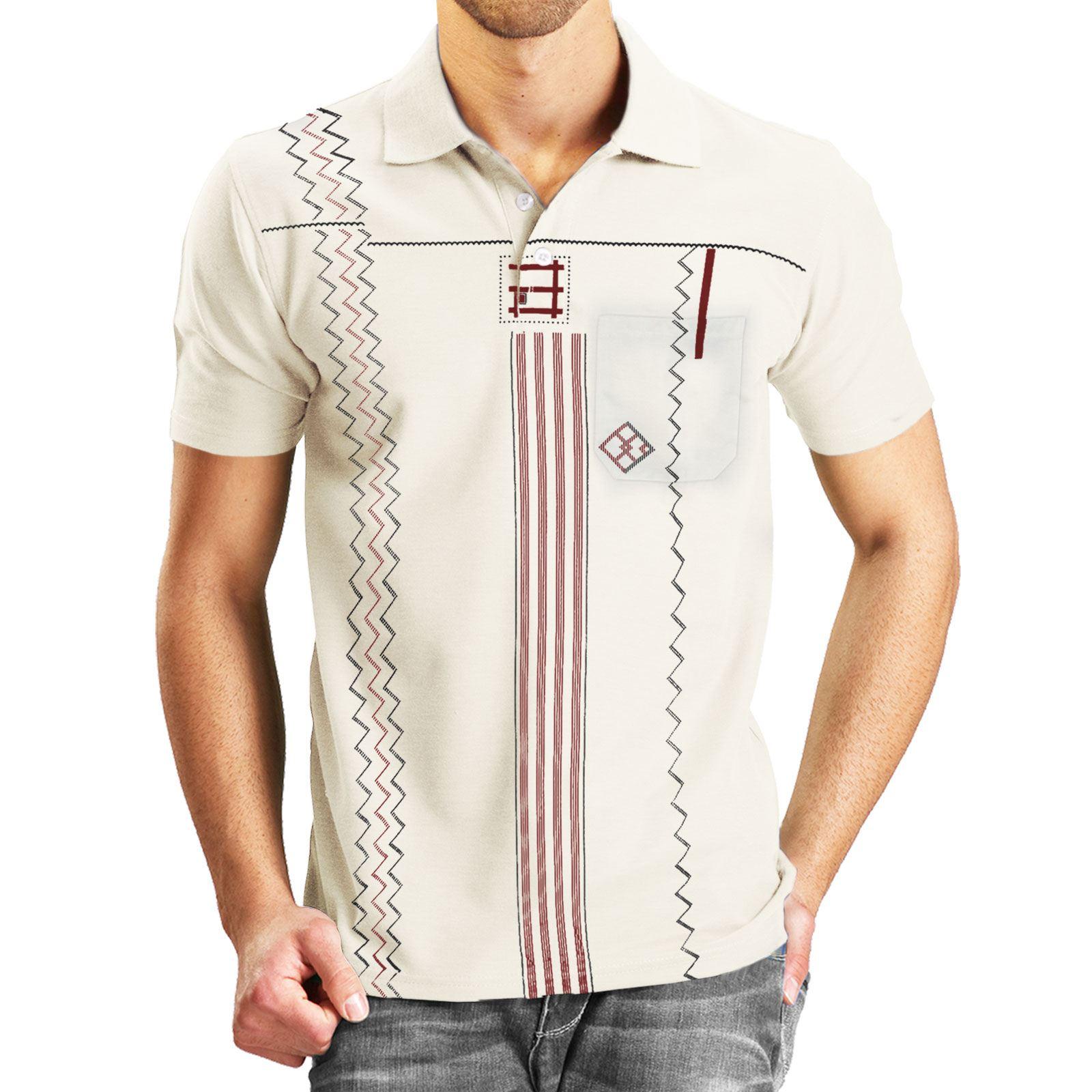 New mens t shirt aztec print designer tee top short sleeve for Womens golf shirts xxl