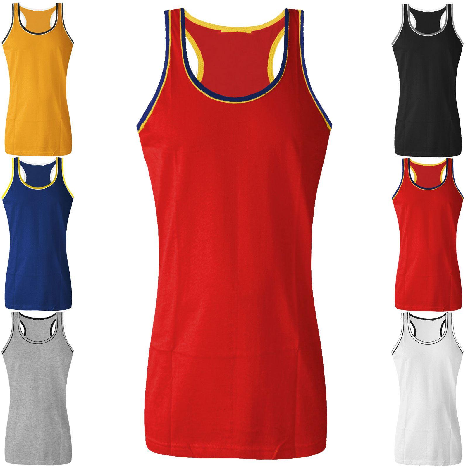 Dry-Cool Stringer Vest. Two Tone Stringer Vest. Value Stringer Vest. Scooped Hem Stringer Vest. Fade Out Stringer Vest. Gym T-Shirts. Gym Shorts. Muscle Vest.